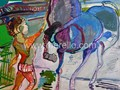 ARTE_CONTEMPORANEO-.merello.-nino con caballo azul (92x73 cm)mixta-tabla (Copy)