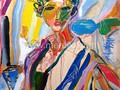 ARTE_CONTEMPORANEO-.merello.-spanish woman with flower(92x73 cm)mixta-lienzo (Copy)
