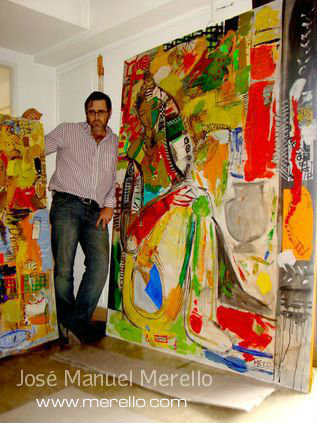 José Manuel Merello-  Big paintings. Contemporary Art. Art Contemporain.