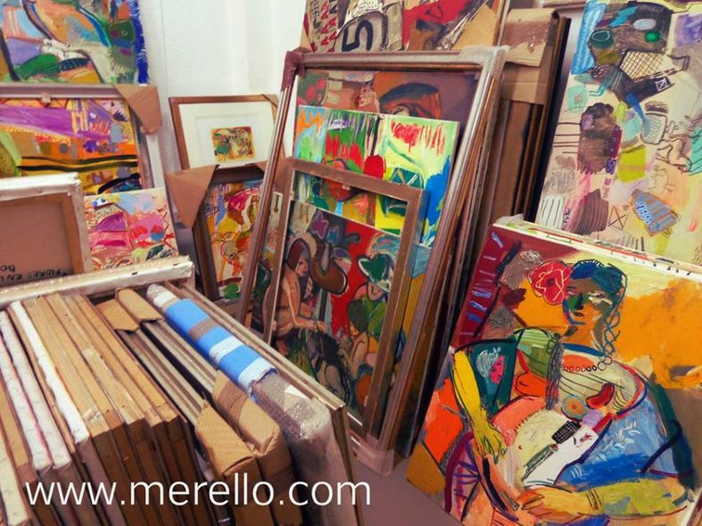 NEW EXPRESSIONISM AND  SURREALISM POP OF 21ST CENTURY. ART EXHIBITIONS.-Merello.-Studio.-Paintings