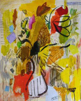 Art by Art 21st Century. New Exhibitions. Yellow Flowers  (92x73 cm)
