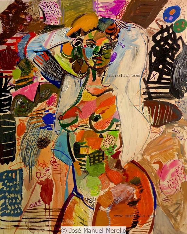Spanish Painting Contemporary Modern. Jose Manuel Merello.