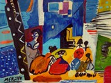 spanish-painting-contemporary-modern.-jose-manuel-merello.-las-meninas-de-velazquez.-mix-media-on-wood