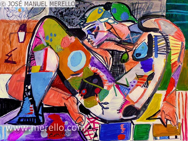Best Merello Contemporary Modern Art Famous Paintings