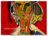 contemporary-modern-art-world-artists.jose-manuel-merello-figura-sobre-fondo-rojo-(73-x-54-cm)-mix-media-on-wood.
