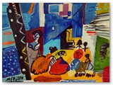 contemporary-modern-art-world-artists.jose-manuel-merello-las-meninas-de-velazquez.-mix-media-on-wood