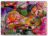 contemporary-modern-art-world-artists.jose-manuel-merello-mujer-recostada-en-el-sillon-rosa-(54-x-73-cm)-mix-media-on-wood.