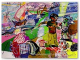 contemporary-modern-art-world-artists.jose-manuel-merello-ninos-en-la-malvarrosa.-valencia.-(54-x-73-cm)-mix-media-on-wood