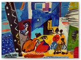 expressionismus-kunst-malerei-jose-manuel-merello.-las-meninas-de-velazquez.-mix-media-on-wood.