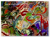 expressionismus-kunst-malerei-merello.-mujer-con-racimo-de-uvas-(81x100-cm)-mix-media-on-canvas