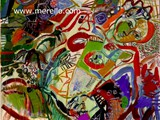 moderne-kunst-malerei.-merello.-mujer-con-racimo-de-uvas-(81x100-cm)-mix-media-on-canvas