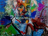 pintores-modernos-contemporaneos.merello.einstein-73x54-cm-mix-media-on-table-