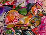 pintura-contemporanea.merello.-mujer-recostada-en-el-sillon-rosa-(54-x-73-cm)-mix-media-on-wood.