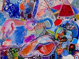 pintura-en-espana.-merello.-mujer-de-porcelana-azul-(81x100-cm)-mix-media-on-canvas